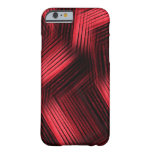 Red Contemporary Abstract Barely There iPhone 6 Case