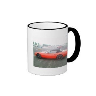 Red Convertible Corvette Ringer Mug