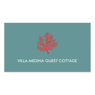 Red Coral Beach Business Card