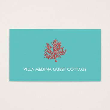 Professional Business Red Coral Beach Business Card