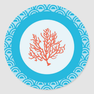 Red Coral Envelope Seal Sticker