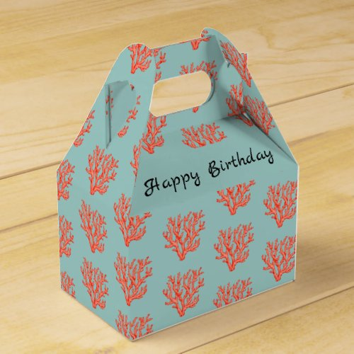 Red coral favor box