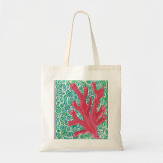 Red Coral In Ocean Current Tote Bag
