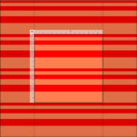 [ Thumbnail: Red & Coral Lined Pattern Fabric ]