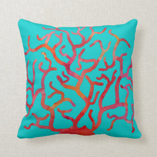 Turquoise And Coral Pillows Decorative & Throw Pillows