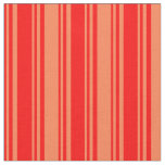 [ Thumbnail: Red & Coral Pattern Fabric ]