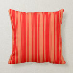 [ Thumbnail: Red & Coral Pattern Throw Pillow ]