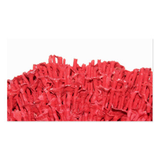 Red Coral Picture. Business Card Templates
