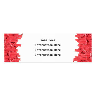 Red Coral Picture. Double-Sided Mini Business Cards (Pack Of 20)