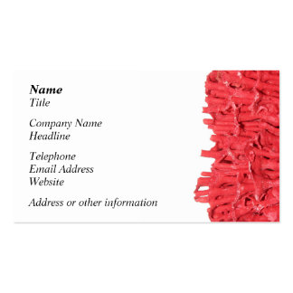 Red Coral Picture. Double-Sided Standard Business Cards (Pack Of 100)