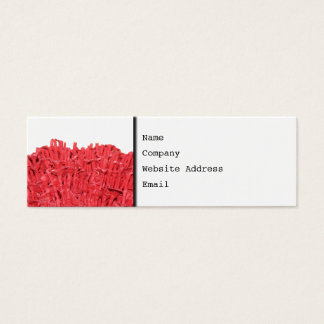 Red Coral Picture. Mini Business Card