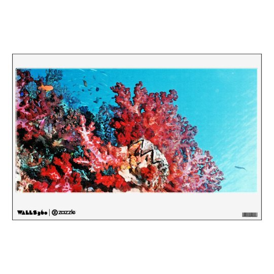 Red Coral Reef Wall Sticker