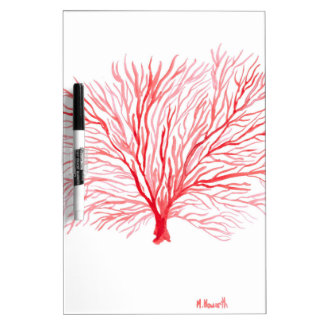 Red coral sealife Dry-Erase board