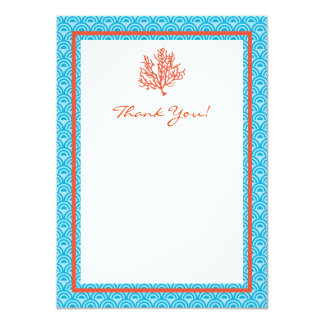 Red Coral Thank You Card Announcements