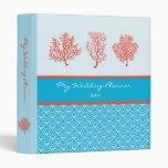 Red Coral Wedding Planner Avery Binder