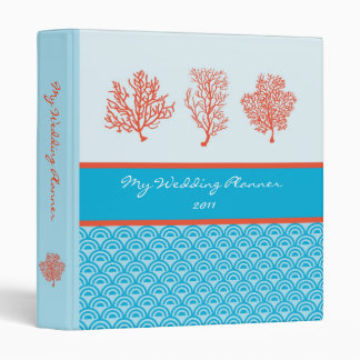 Red Coral Wedding Planner Avery Binder