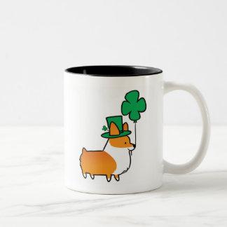 Red Corgi Lucky Shamrock Mug | CorgiThings
