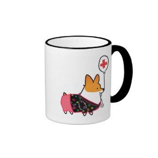 Red Corgi Nurse Mug | CorgiThings