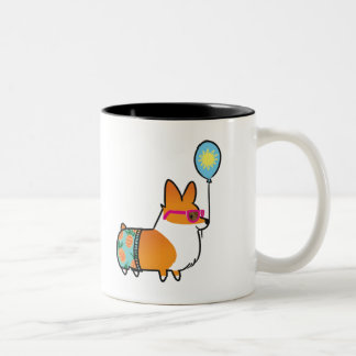 Red Corgi Summer Fun Mug | CorgiThings