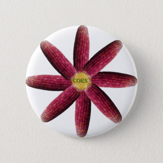 Red Corn Pattern Button