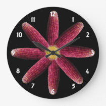 Red Corn Pattern Clock