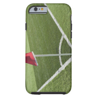 Red corner flag on soccer field tough iPhone 6 case