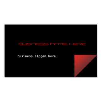 Red Corner Modern Business Profile Card Business Card
