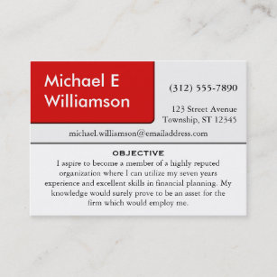 Resume Business Cards | Zazzle