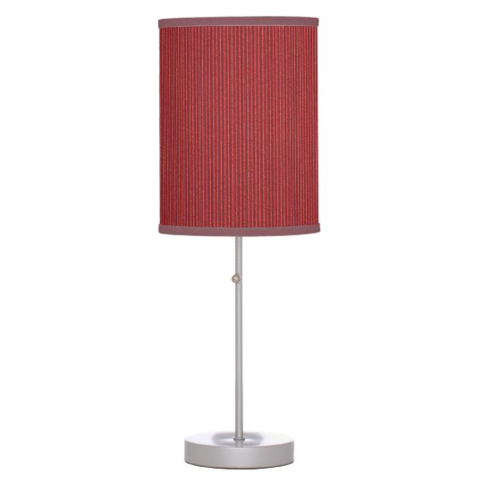 Red Corrugated Cardboard Table Lamp
