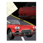 Red Corvette - Car/Father's Day Design Post Cards