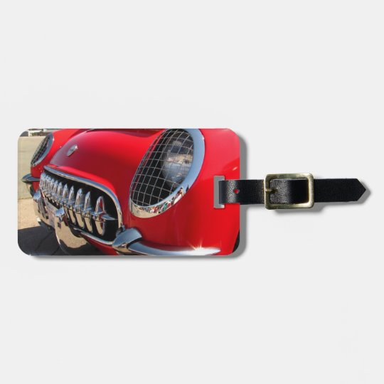 Red Corvette ~ Luggage tag