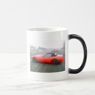 Red Corvette Magic Mug