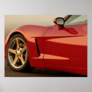 Red Corvette print