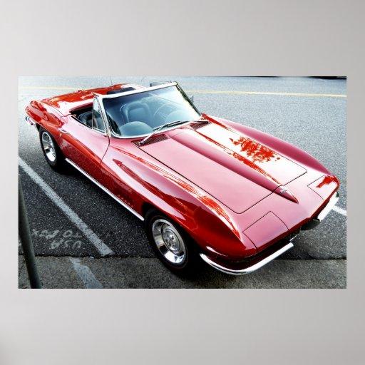 Red Corvette Poster