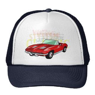 Red Corvette Stingray or Sting Ray sports car Trucker Hat