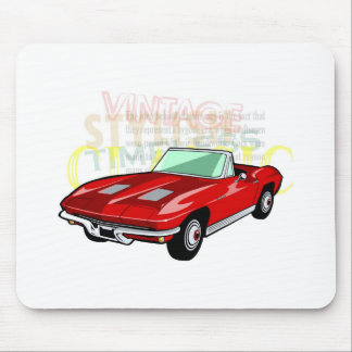 Red Corvette Stingray or Sting Ray sports car Mouse Pad
