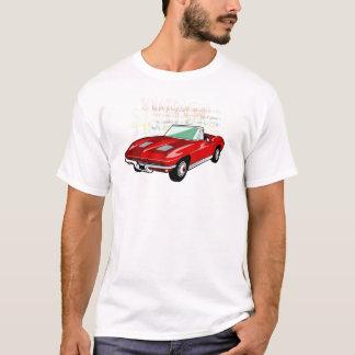 Red Corvette Stingray or Sting Ray sports car T-Shirt