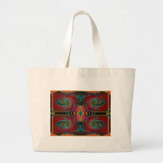 Red Cosmos Swirl Jumbo Tote Bag