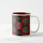 Red Cosmos Swirl Mug