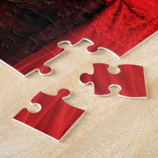 Red Costumes at the Carnival of Venice, Italy Jigsaw Puzzle