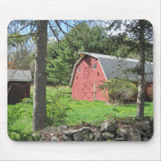 Red Country Barn Mouse Pad
