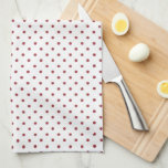Red Country Roses Cottage Kitchen Companion Towel