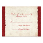 Red Country Wedding RSVP 4.25x5.5 Paper Invitation Card