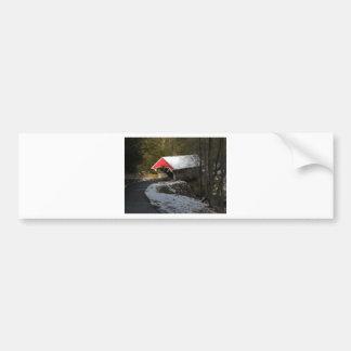 Red Covered Bridge Bumper Sticker
