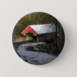 Red Covered Bridge Button