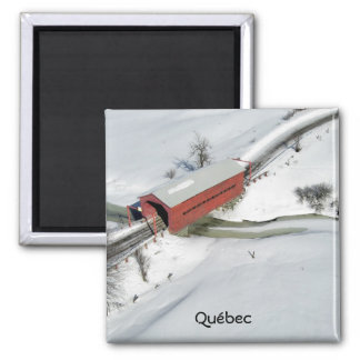 Red Covered Bridge near Gatineau Park Quebec Fridge Magnets