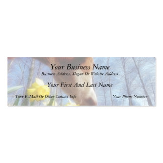 Red Cow and Yellow Daffodils Double-Sided Mini Business Cards (Pack Of 20)