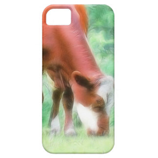 Red Cow in the Green Meadow iPhone SE/5/5s Case