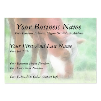 Red Cow in the Green Meadow Large Business Card