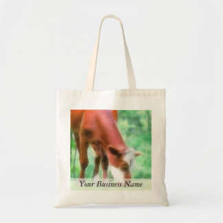 Red Cow in the Green Meadow Tote Bag